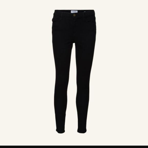 156f3067955 Frame Le High Skinny Jeans Film Noir